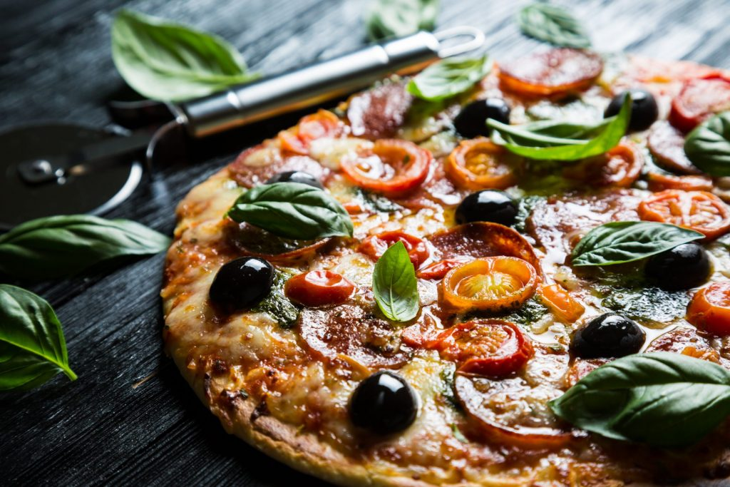 Delicious Basil Pizza